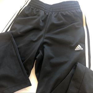 Classic black with white striped Adidas pants XS